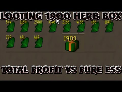 Runescape 2007 Opening 1900 Herb Boxes - NMZ (18M Points)