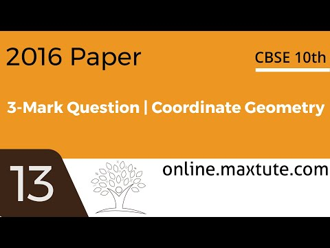 CBSE 10th standard maths board paper solution. 2016, 3-mark question.