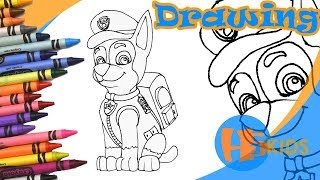 How To Draw Chase Police Uniform   Paw Patrol   Step By Step Easy   Kids Drawing Tutorial