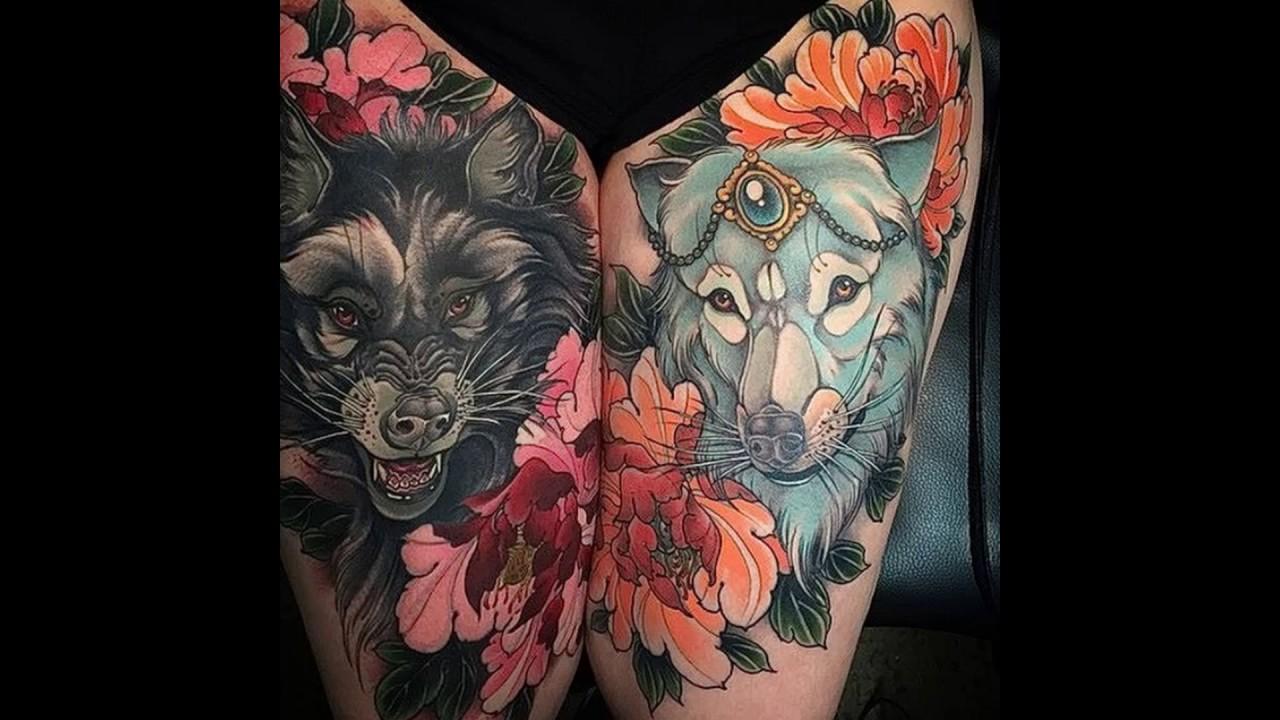 Значение тату два волка - рисунки готовых тату на теле - фото
