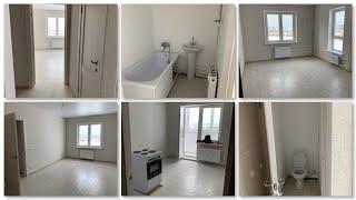 Наша новая квартира в Краснодаре/обзор,планировка,ремонт от застройщика эконом класс