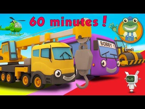Caroline The Crane and More Trucks For Children | Gecko's Garage