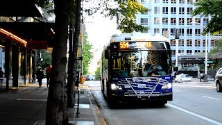 "Sound Transit 2015 New Flyer XD60 ""Xcelsior"" Artic 9814 On The 554 @ 4th Avenue & Union Street"