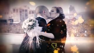 Слайд шоу свадебных фотографий Олега и Кристины