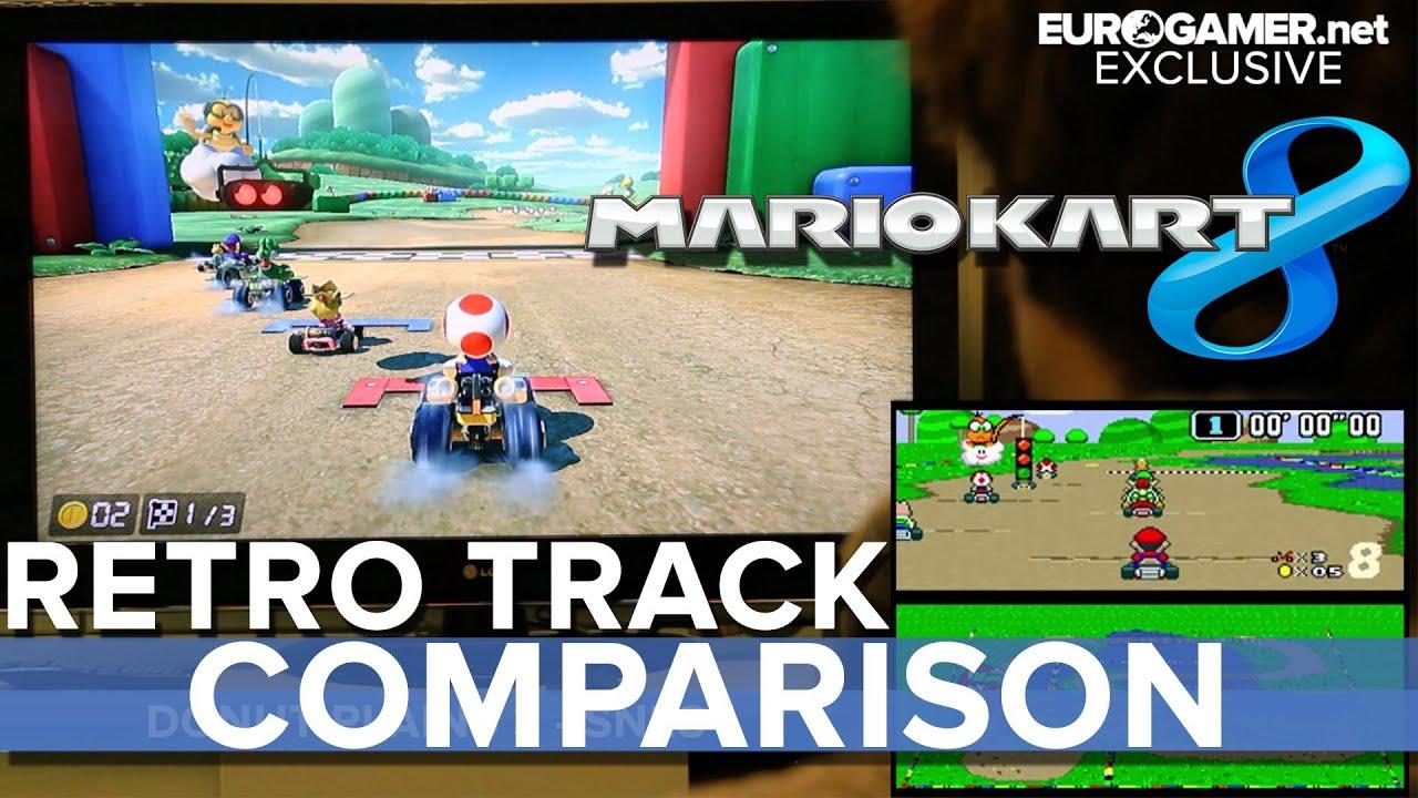 Gorgeous Mario Kart 8 retro tracks compared to originals
