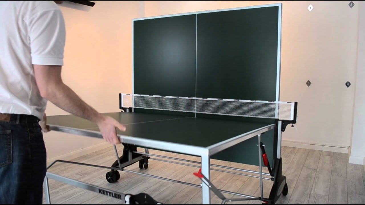 How To Fold A Kettler Stockholm Outdoor Table Tennis Table   YouTube