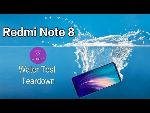 Xiaomi Redmi Note 8 Waterproof Test