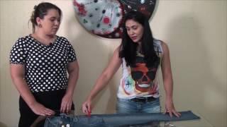 Expressão Feminina: Aprenda a customizar uma calça jeans antiga