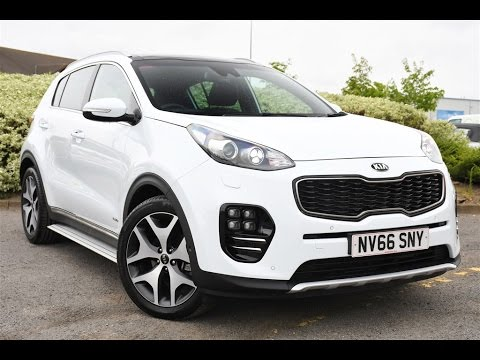 used kia sportage 2 0 crdi gt line s 5dr auto awd white 2017 youtube. Black Bedroom Furniture Sets. Home Design Ideas