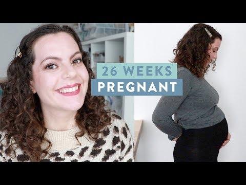 26 WEEKS PREGNANT   Feeling BIG Already, Symptoms, Feelings and Belly Update