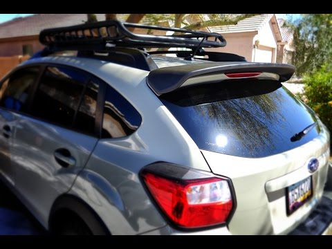 Subaru Crosstrek Rear Spoiler Installation