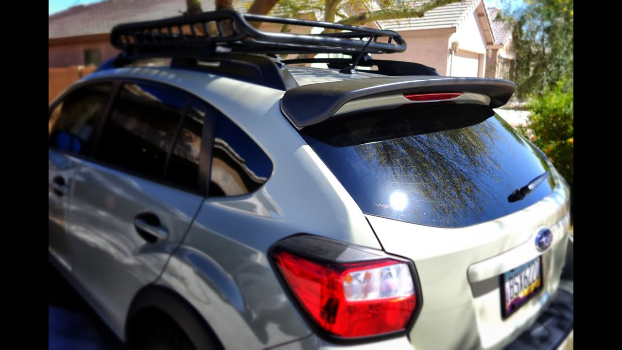 Subaru Crosstrek Rear Spoiler Installation Youtube