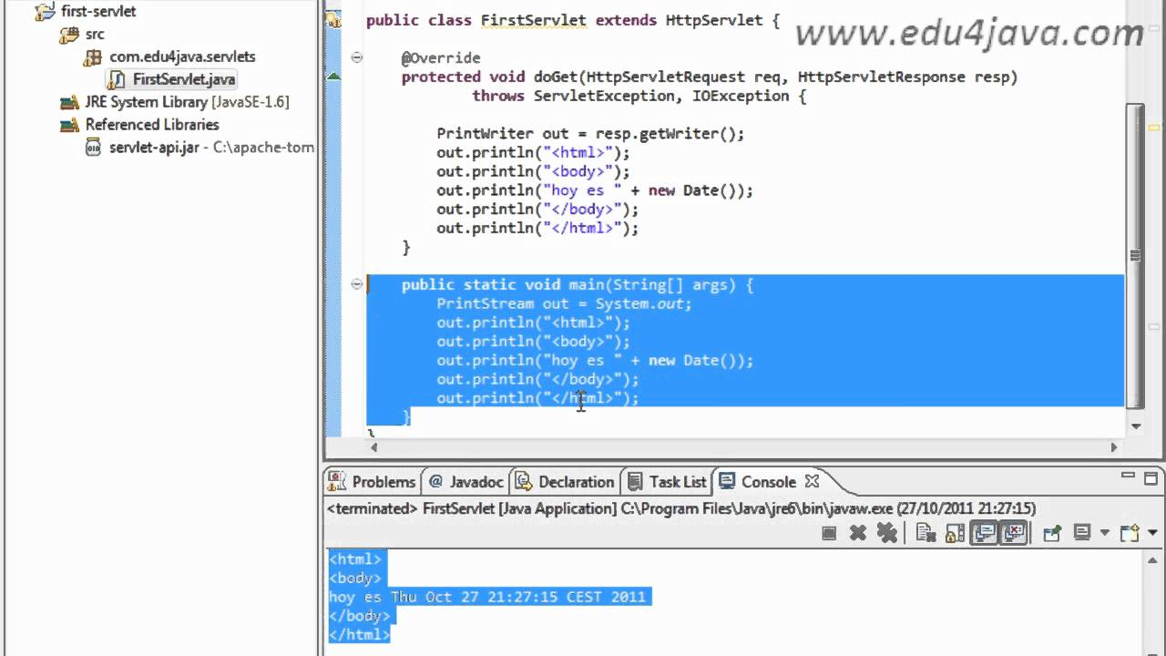 Primer Servlet Estructura De Un Sitio Web Según Estándar J2ee