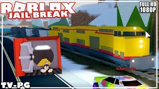 Robbing the new train in jailbreak(ROBLOX)