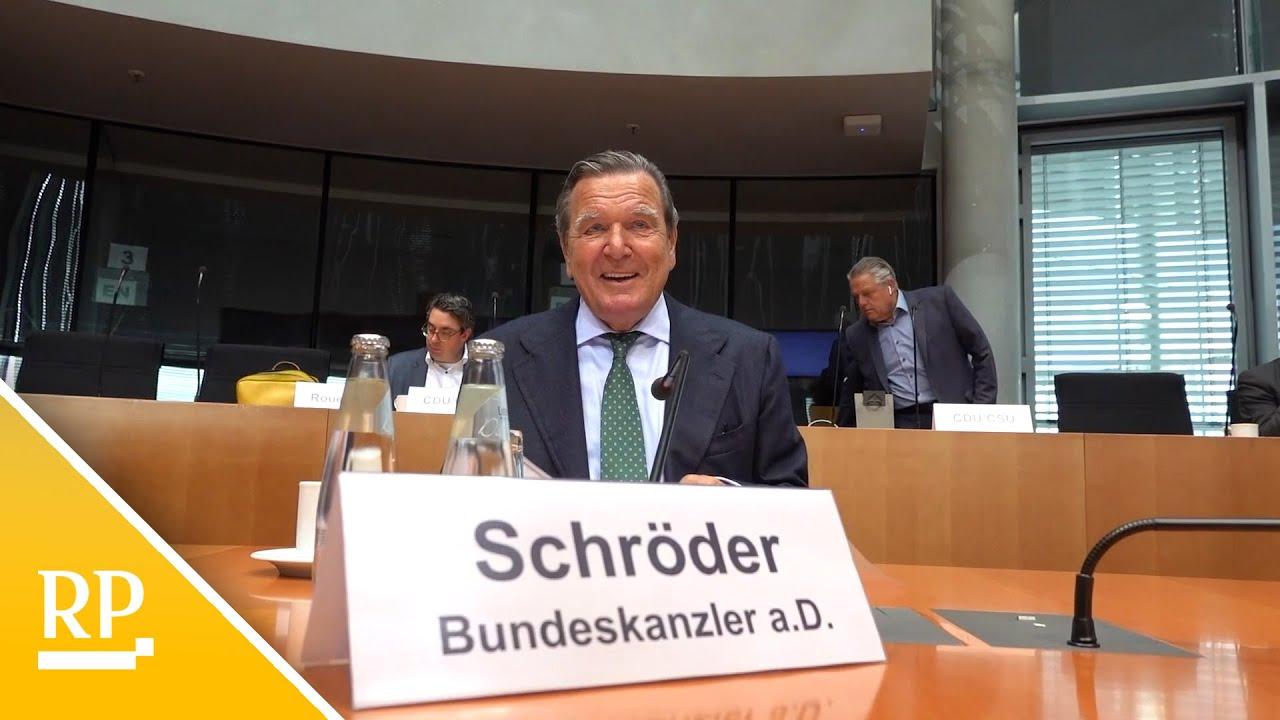 Ex-Kanzler Schröder: Zoff um Auftritt in Bundestagsausschuss