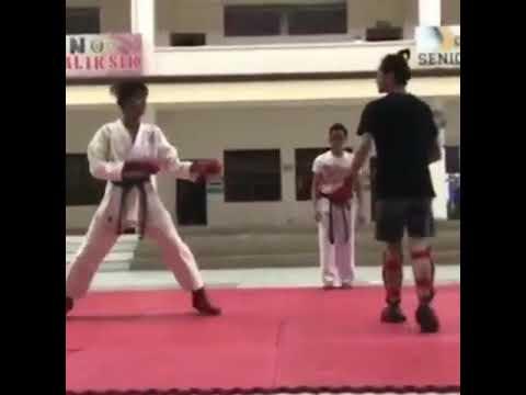 Karate training @st Paul university(Johnlloyd Penados)