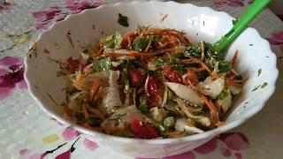 Полезный и вкусный овощной салат. Правильное питание