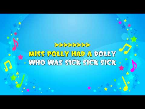Miss Polly Had a Dolly | Sing A Long | Nursery Rhyme | KiddieOK
