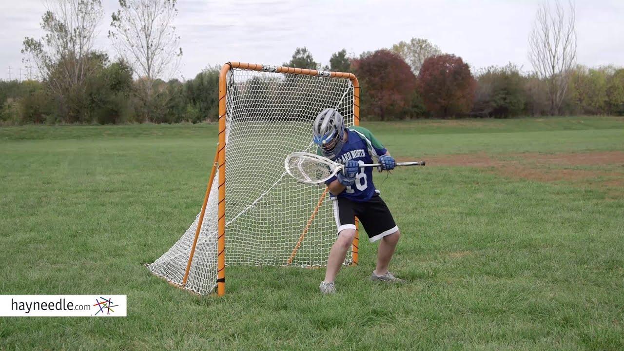 Ez Goal 6 X 6 Ft Folding Lacrosse Goal With Throwback