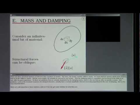 FEA. Dynamics, Nonlinearities. Lecture 30A.