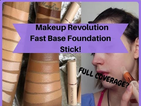 ONLY £5?! MAKEUP REVOLUTION FAST BASE FOUNDATION STICK - HONEST REVIEW AND FIRST IMPRESSIONS