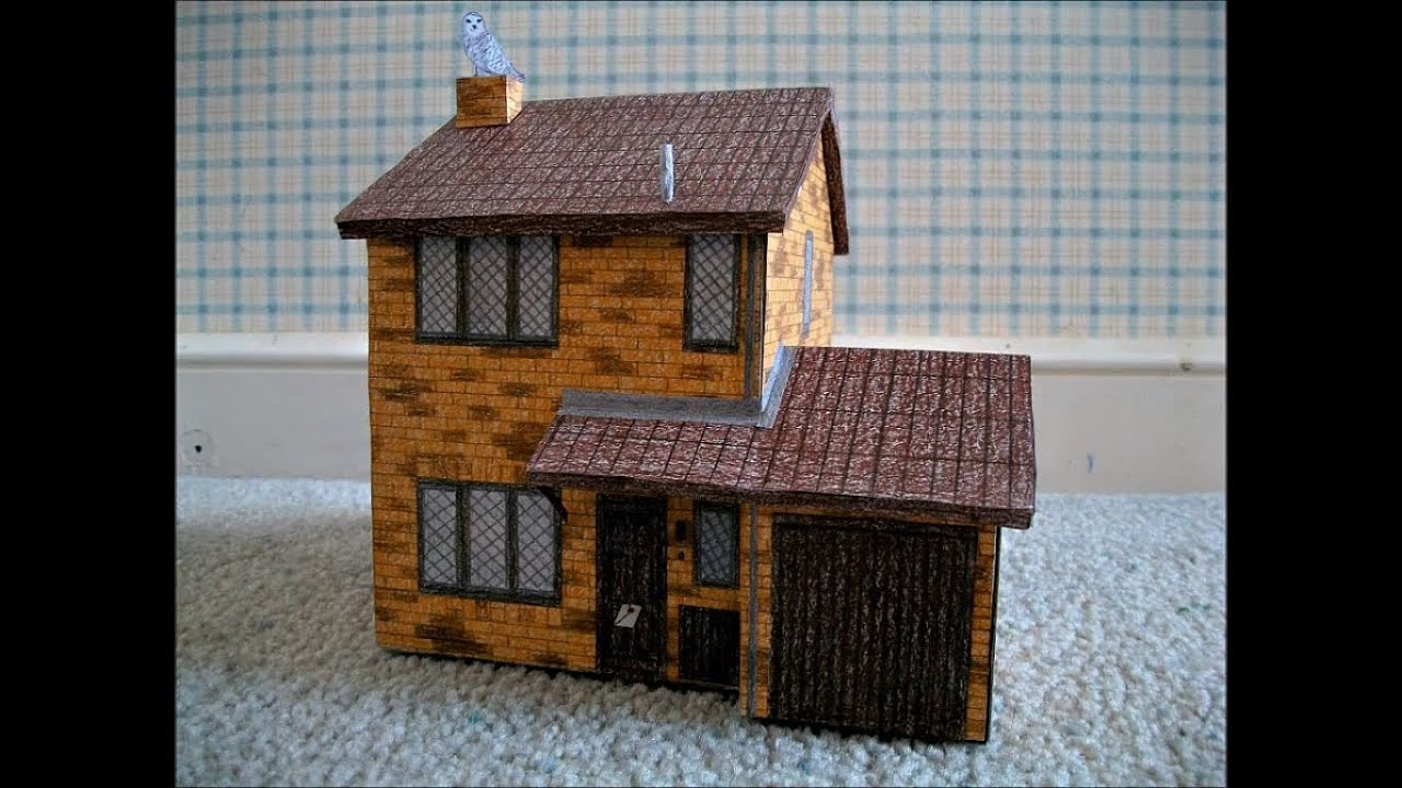 Manor House Floor Plan Paper Model Of The Number 4 Privet Drive Little Whinging