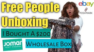 I Paid $200 For A Free People Mystery Box To RESELL on Ebay & Poshmark ~ Jomar Wholesale Unboxing