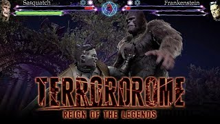 Terrordrome 2 - FIRST LOOK GAMEPLAY w/ Frankenstein VS Sasquatch! (Horror Fighting Game)