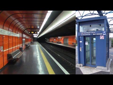 1985 original Hages elevators at Robert-Schuman-Platz subway station Bonn, Germany