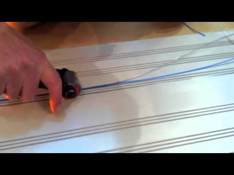 making a slot car track laying rail and lock wire youtube. Black Bedroom Furniture Sets. Home Design Ideas