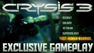 Crysis 3 - Post-Human Warrior (Highest Difficulty) - Exclusive 1080p PC Gameplay