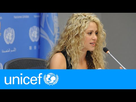Shakira speaks up for children at the UN  UNICEF