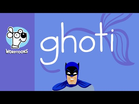 Draw The Word Ghoti  Into A Fish - Because Batman Says It's Pronounced Fish