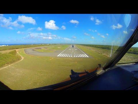 Pilot's View landing in Santo Domingo MDSD Rwy 35
