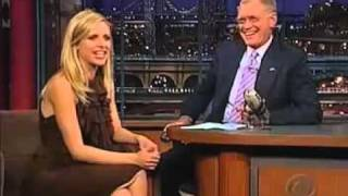 Sarah Michelle Gellar On David Letterman 2002