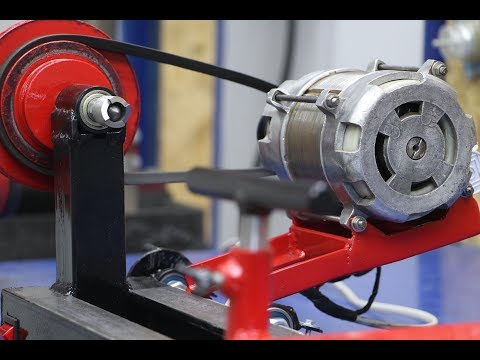 Wood lathe from a motor from a washing machine !!!ENG SUB