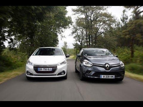 Download Essai comparatif : la Renault Clio restylée défie la Peugeot 208 !