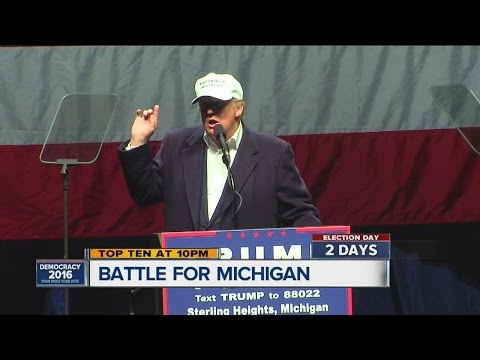 Donald Trump makes final pitch to voters in Sterling Heights