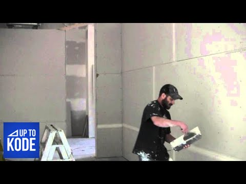 How The Pro's Mix Drywall Mud And Apply Tape (#2014)