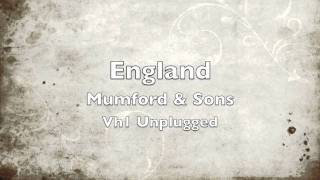 England (cover) - Mumford & Sons - Vh1 Unplugged