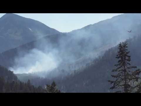 Wildfire Tanker Air Drop