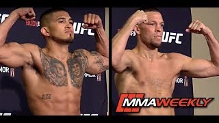 UFC 241Official Weigh-in: Nate Diaz vs. Anthony Pettis