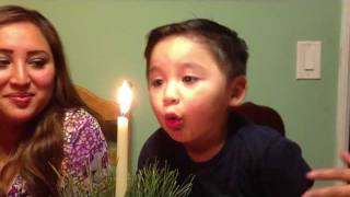 FUNNY TODDLER TRYING TO BLOW OUT CANDLES Pt. 1|Christmas Dinner