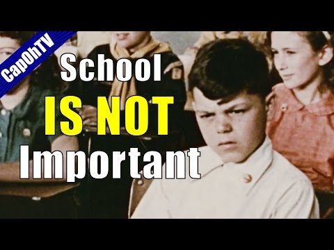 Why Education is Important but School is Not    Video Essay
