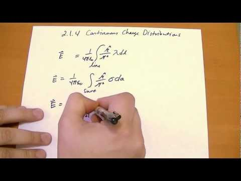 2.1.4 Continuous Charge Distributions