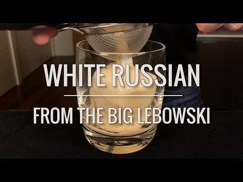 Recreated - White Russian from The Big Lebowski