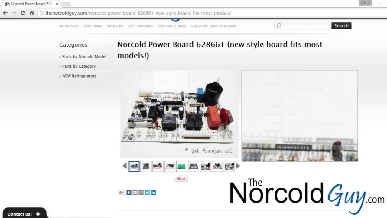 Norcold Power Board 628661| The Norcold Guy on