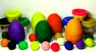 19 Play-Doh surprise eggs Hello Kitty Disney Fairies Angry Birds Car SMURFS Littlest Pet Shop!!!