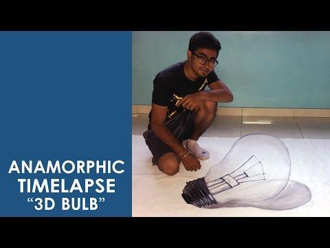 3D Bulb | Anamorphic Bulb | ACRYLIC PAINTING