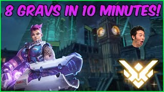 8 Gravs in 10 Minutes!? Overwatch GM Smurf Zarya Gameplay (Samito)